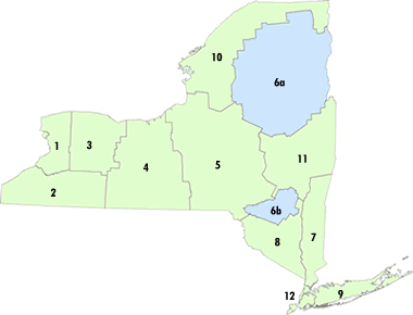 Regions NYS Parks Recreation Historic Preservation - New york state map with cities